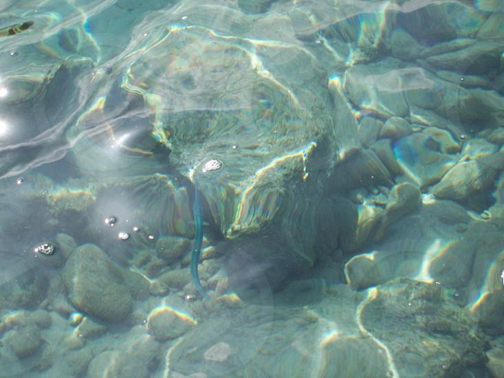 reflection - sunlight - water - sea - ocean - Greece - Greek - transparent - see through - ripples - sun dance -  photo