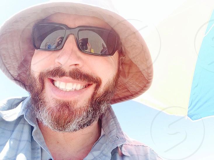 men's black rimmed sunglasses  photo
