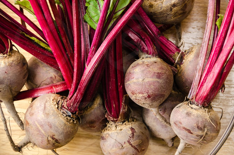 fresh Beetroot farmer's market market stall vegetables organic bunches photo