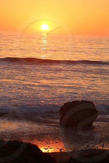 San Simeon CA Sunset  photo