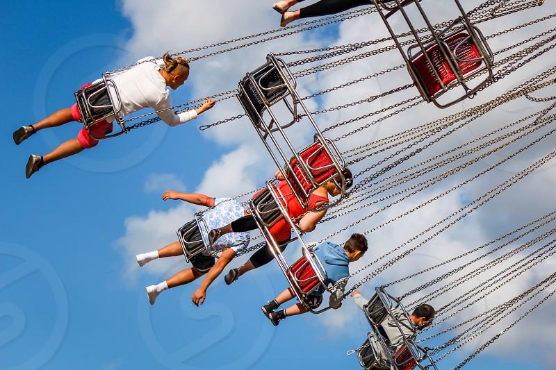 Swings fun fair fast  photo