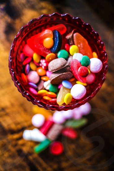 Vibrant colored candies photo