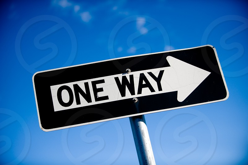 sign one way one way sign road sign driving transportation photo
