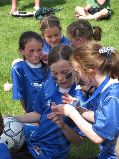 girl soccer players photo