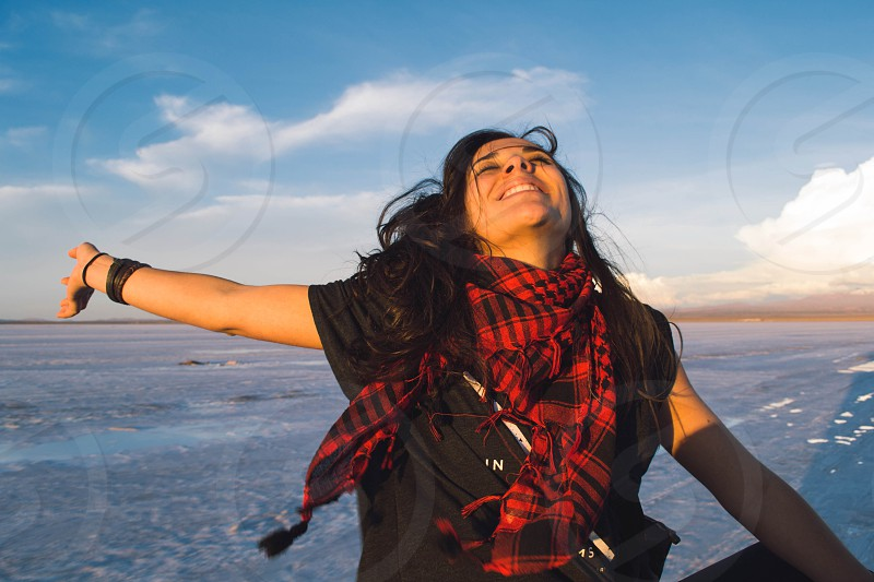 This moment is ours dearest. Salar de Uyuni Bolivia photo