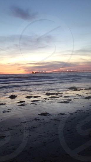 Goleta Beach at sunset. photo