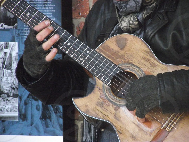 Well love guitar. BuskerMelbourne Australia. photo