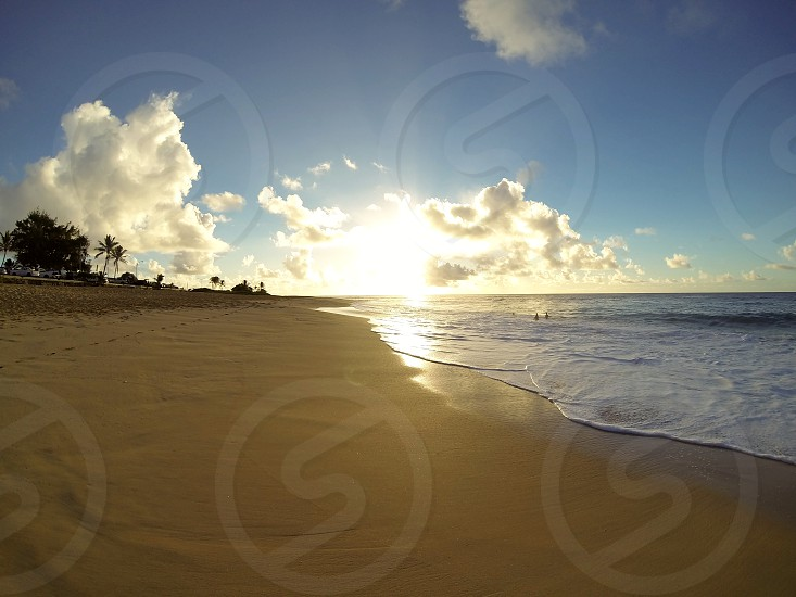 Sunrise at Sandy Beach Oahu Hawai'i photo