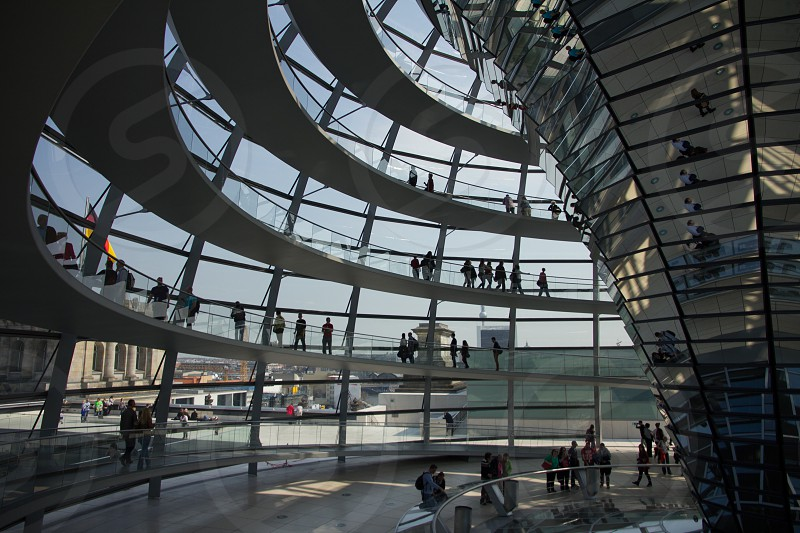 Reflections in the Reichstag Building Berlin photo