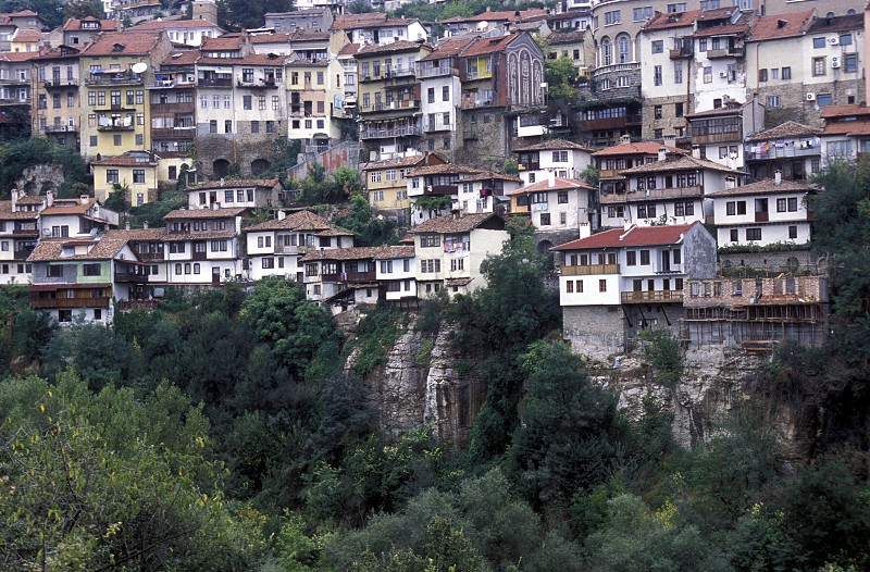 the city of Veliko Tarnovo in the north of Bulgaria in east Europe. photo