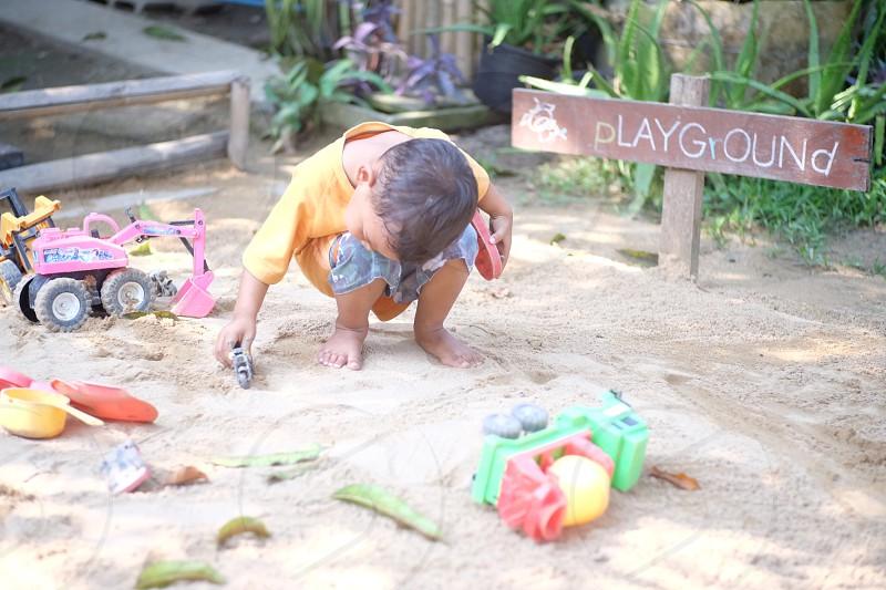 boy in a playground photo