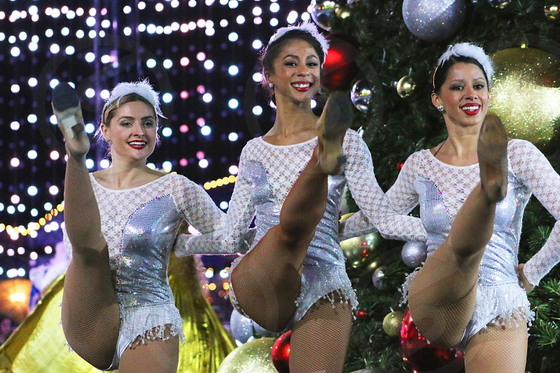 Channelling the Rockettes at the Queen Mary's Chill. photo