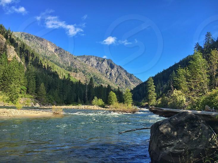 Nason Creek Washington creek water river mountains travel hiking photo