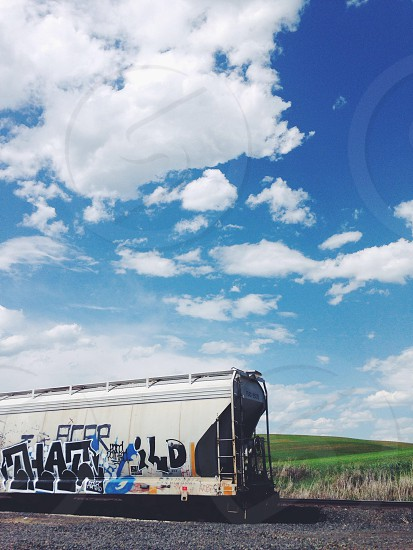 white tanker train photo