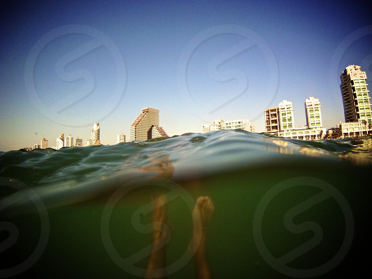underwater beach city photo photo