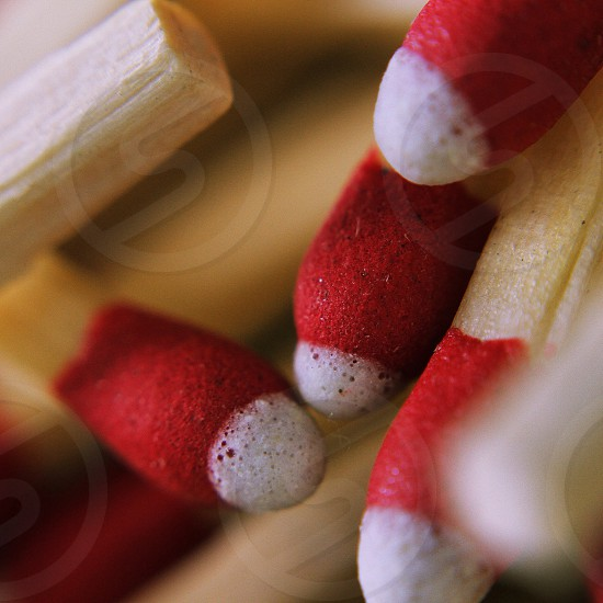 Macro photo of stick matches. Canon 7D Canon fl 55mm f1.2 lens macro mounted photo
