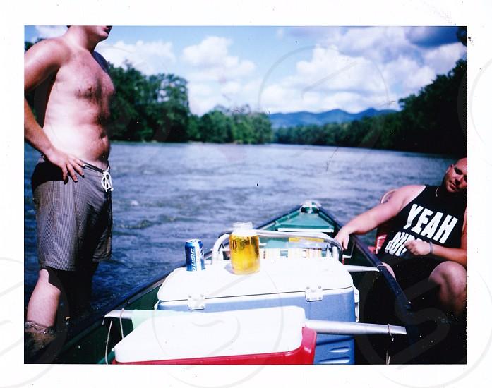 River Polaroid photo