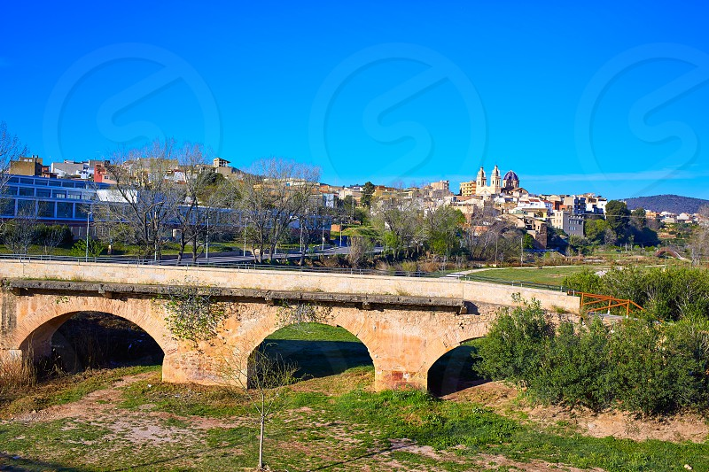 Ribarroja del Turia village and bridge in Valencia Spain photo