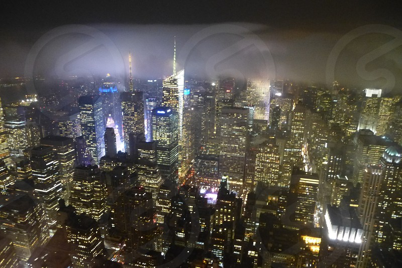 Bright lights in the big city  New York  photo