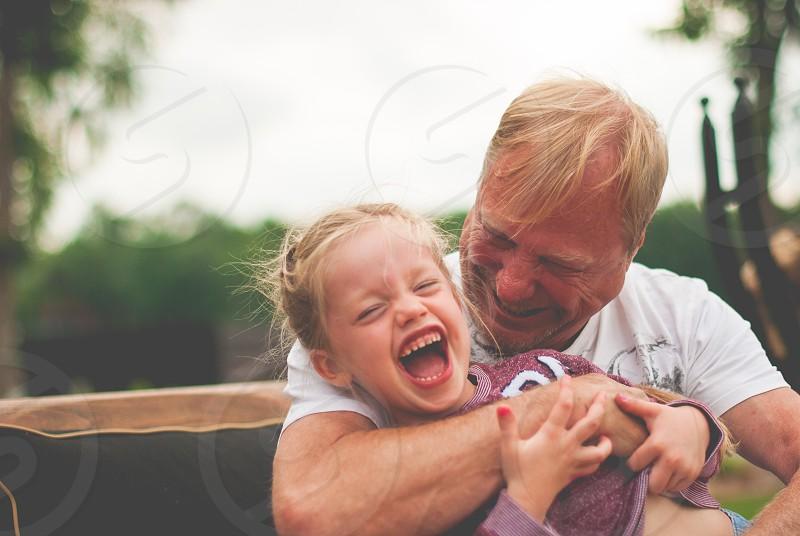 Grandpa and granddaughter  photo
