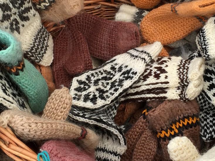 Winter clothes wool handmade warm warming photo