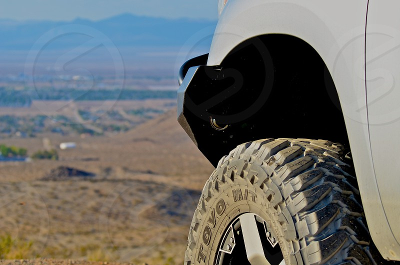 Offroad but within the sight of the destination. It is a beautiful thing. photo