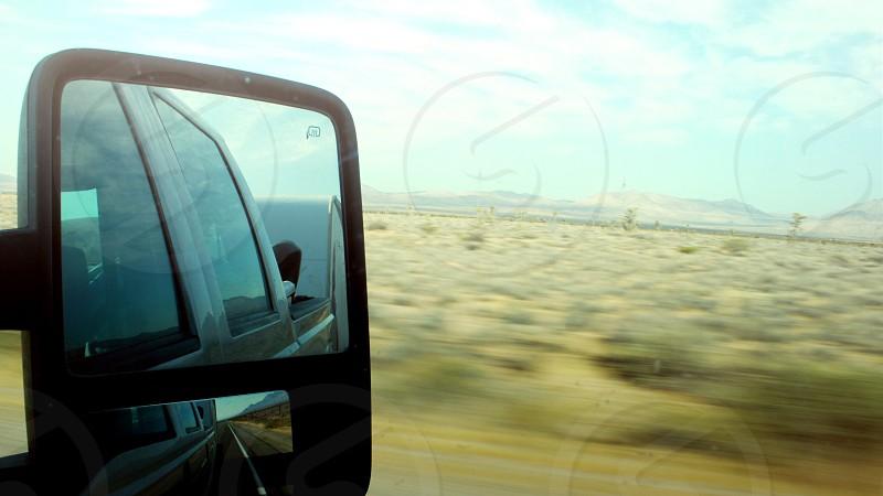 Desert exposure highway driving photo
