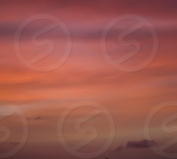 orange sunset clouds photo