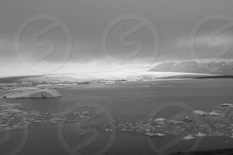 Iceland Glacial Lake photo