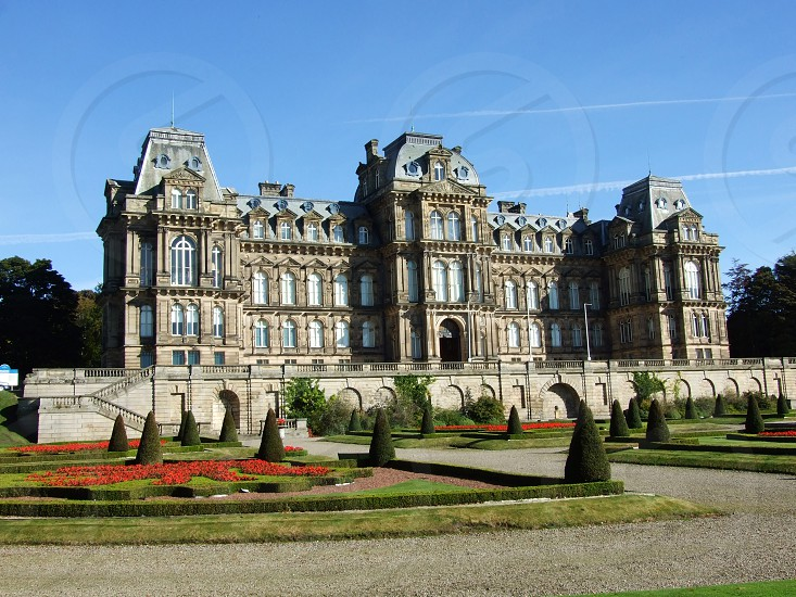 UK. ENGLAND. Barnard Castle. County Durham. The Bowes Museum on the outskirts of Barnard Castle town centre. The museum was purpose built to house the collection of John Bowes and his wife. photo