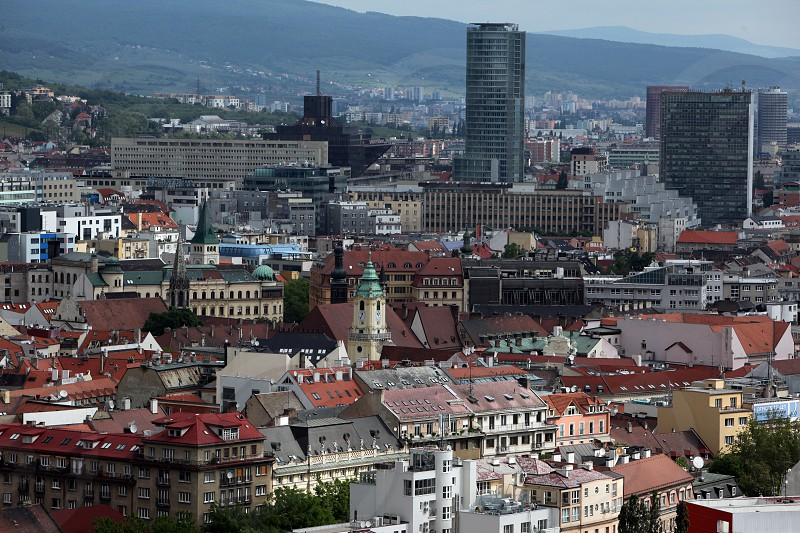 the old town of the city  Bratislava in Slovakia in east europe. photo