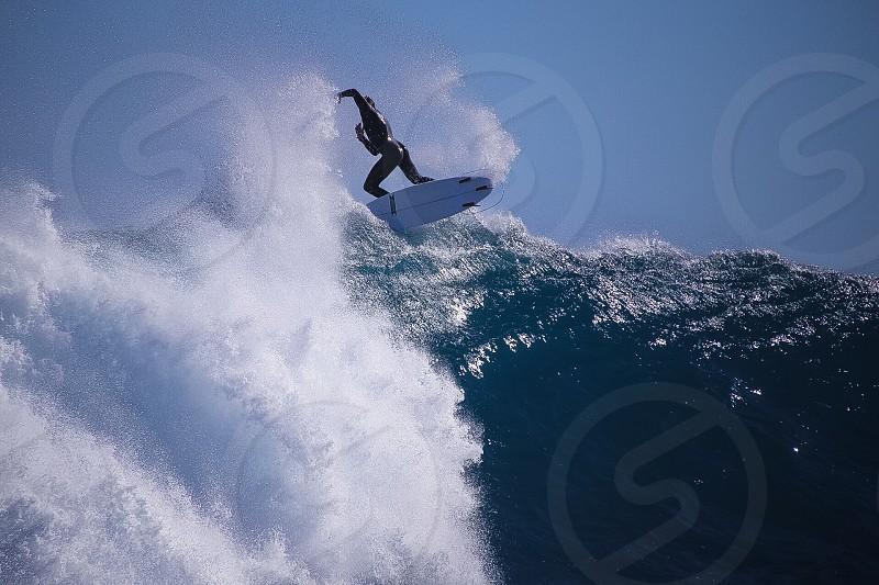 Wild wave surfer photo