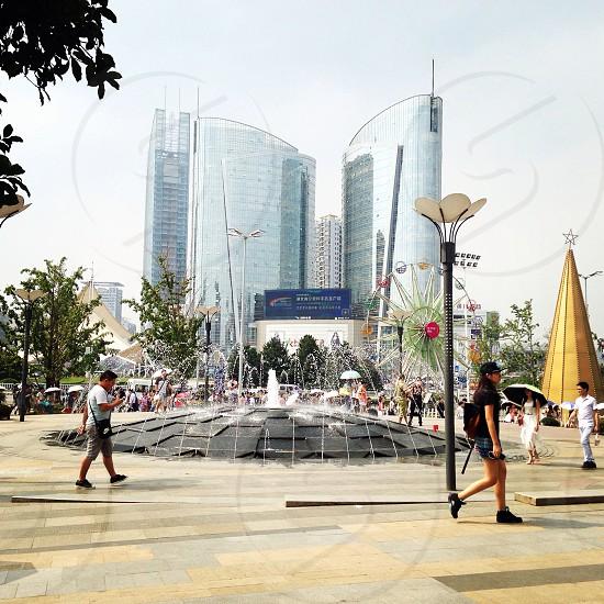Guanggu (Optics Valley Square) in Wuhan China.  photo