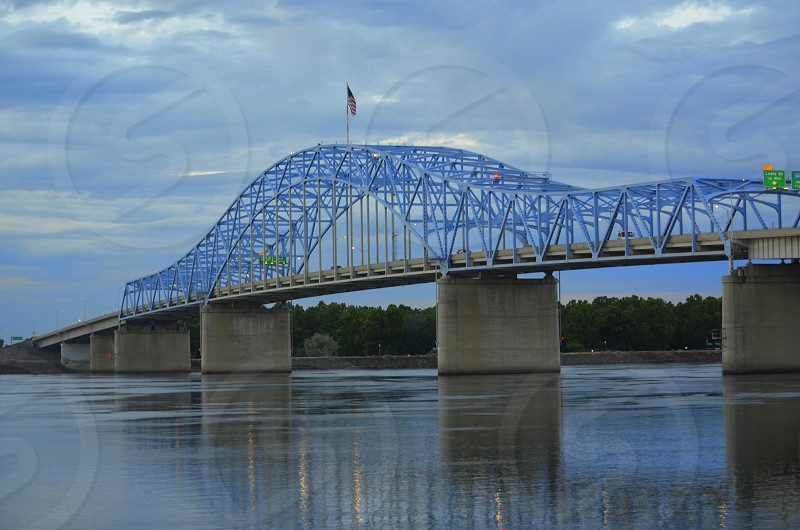 Blue Bridge at Columbia Park in Kennewick Washington photo
