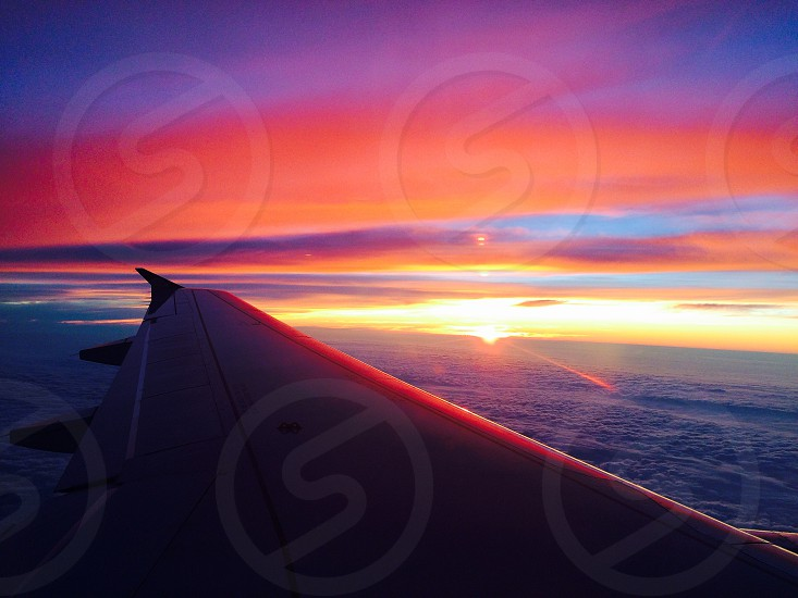 This is the beautiful sunset I saw on my way to DC from the airplane.  photo