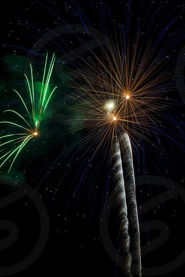 orange and green firecracker illustration photo