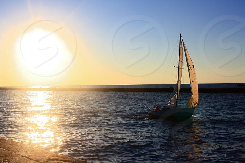 Sailing on Lake Michigan photo