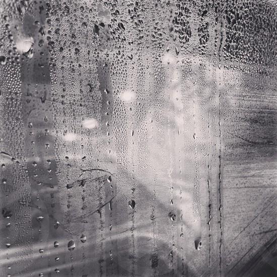 Water black and white beauty urban window drops minimalism photo
