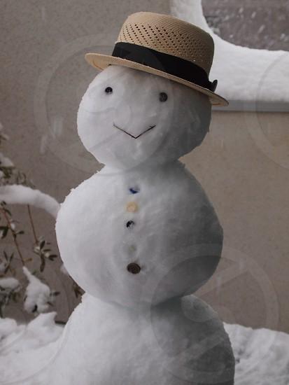 white snowman plush photo