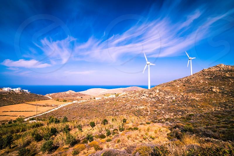 Renewable Naxos Island Greece. photo