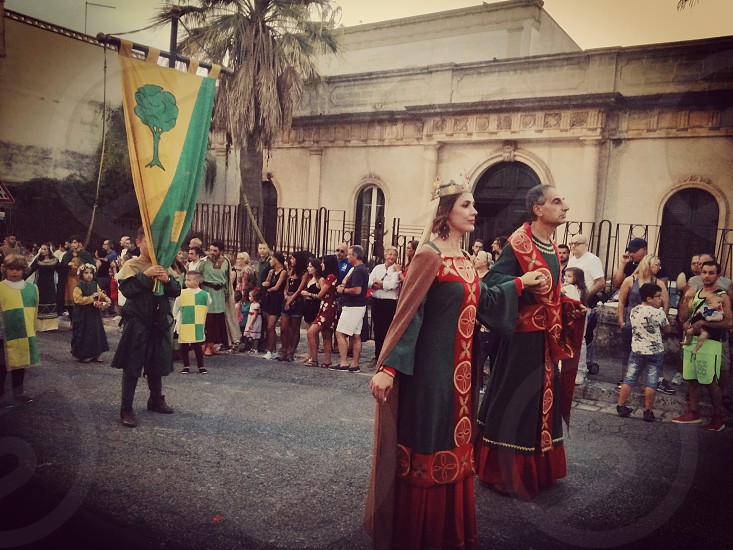Medieval characters in the 52th historical parade of Frederick II in my town Oria. photo