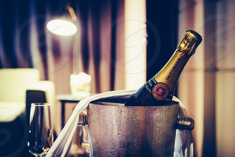 Champagne glass with bucket photo