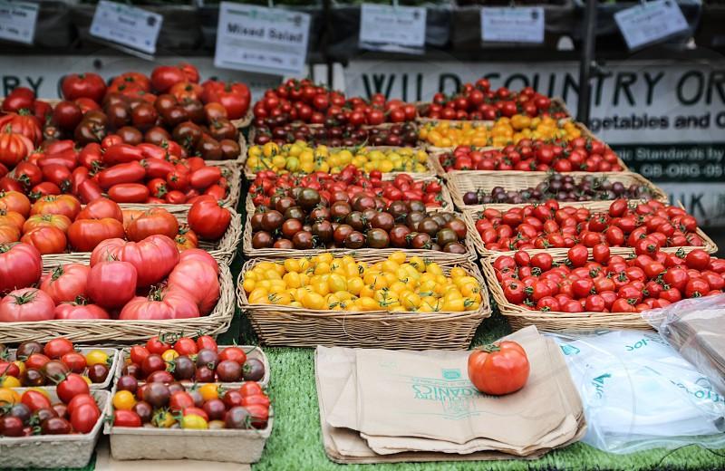 Tomato tomatoes red yellow vegetables vegetable health market markets farmers market  farming farmer business  photo