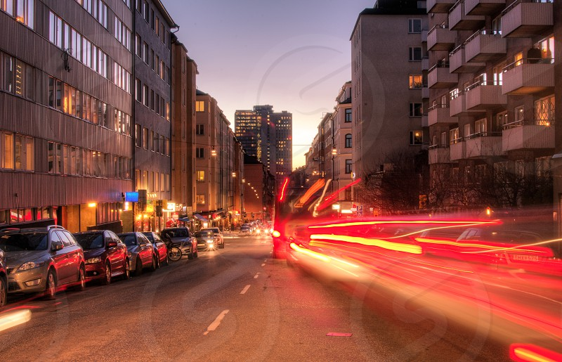 car tail lights long exposure  photo