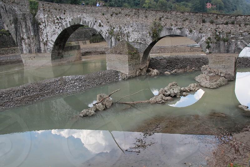 bridge Maddalena's bridge also called Devil's bridge XI sec. Borgo a Mozzano Lucca Italy photo
