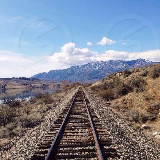 brown railroad photograph photo
