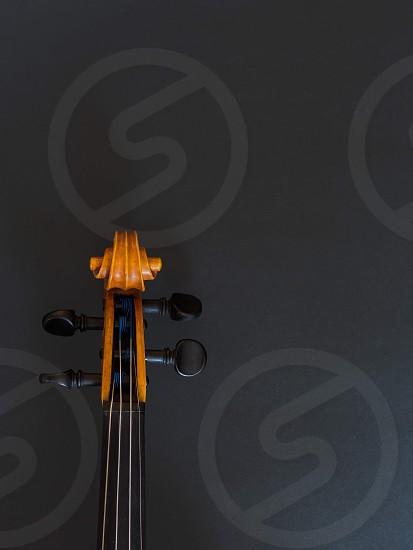 Violin music instrument black photo