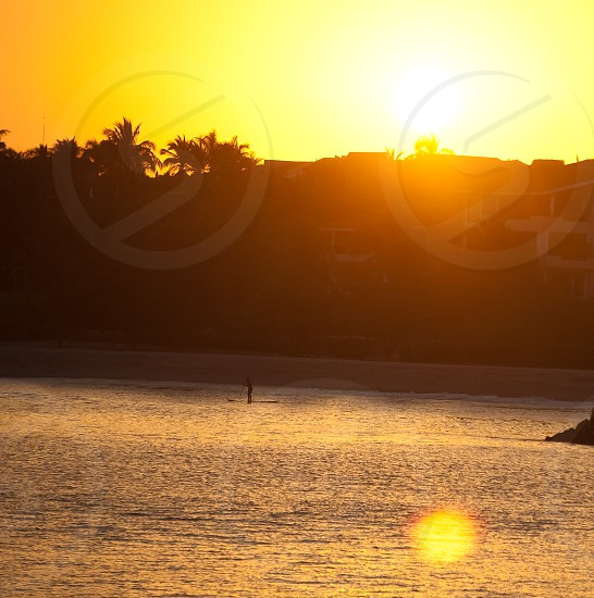 Sunset SUP photo