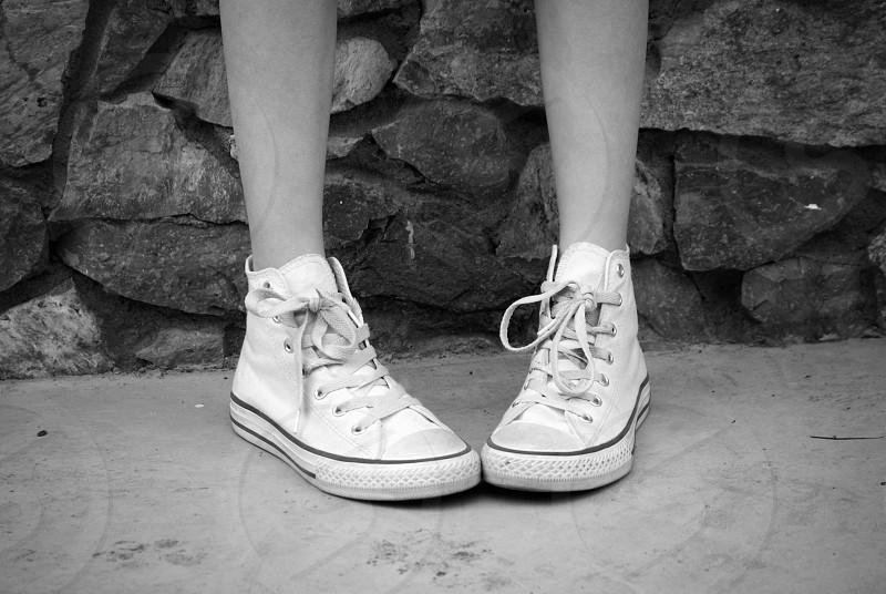 sneakers white converse black and white b&w original photo