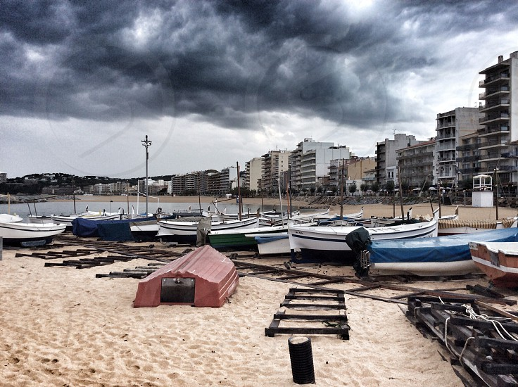 diversity boats on the beach photo